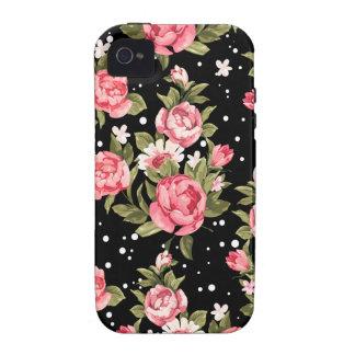 Peonies endebles rosados iPhone 4 funda