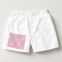 Peonies,floral,white,pink,pattern,girly,modern,bea Boxers