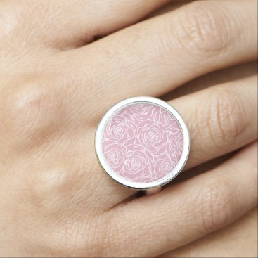 Wedding Themed Peonies,floral,white,pink,pattern,girly,modern,bea Ring
