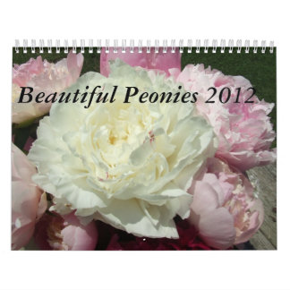 Peonies Flower Floral 2012 Calendar