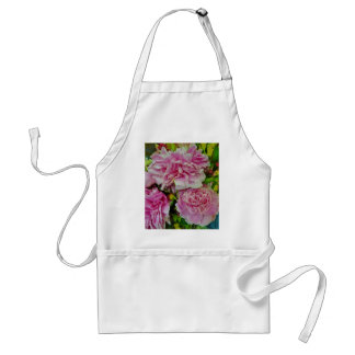 Peonies French Country Style Adult Apron