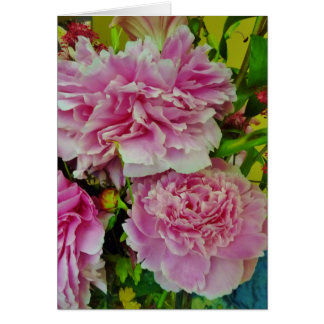 Peonies French Country Style Card