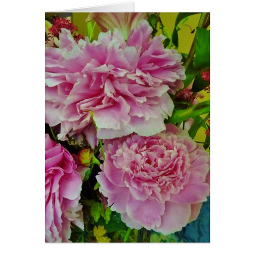 Peonies French Country Style Greeting Card