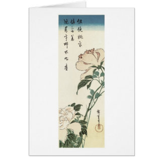 Peonies, Hiroshige Card