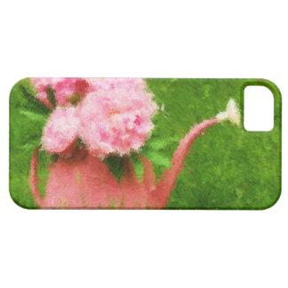 Peonies impresionistas del rosa del estilo funda para iPhone SE/5/5s