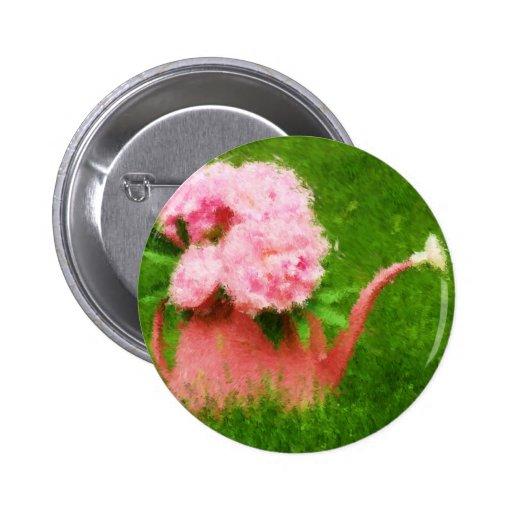 Peonies impresionistas del rosa del estilo pins