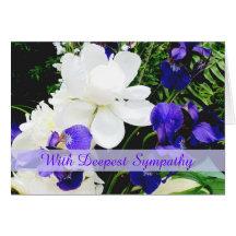 Peonies & Irises Sympathy Greeting Card