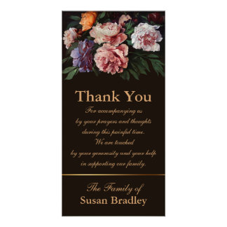 Peonies Painting 1 Sympathy Thank You Photo Card