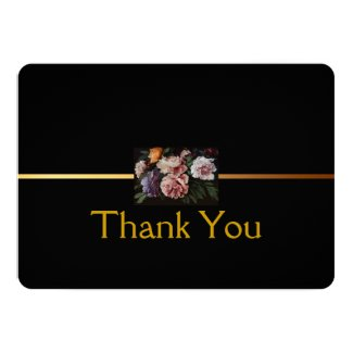 """Peonies Painting 2 - Sympathy Thank You Cards 5"""" X 7"""" Invitation Card"""