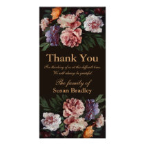 Peonies Painting 3 Sympathy Thank You Photo Card