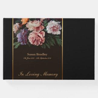Peonies Painting Memorial Funeral Guest Book 2