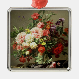 Peonies, Poppies and Roses, 1849 Metal Ornament
