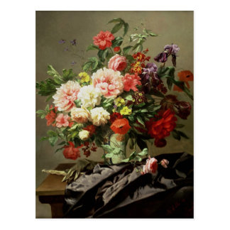 Peonies, Poppies and Roses, 1849 Postcard
