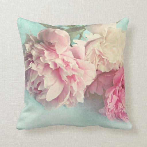 peonies rosados elegantes lamentables de la almoha almohada