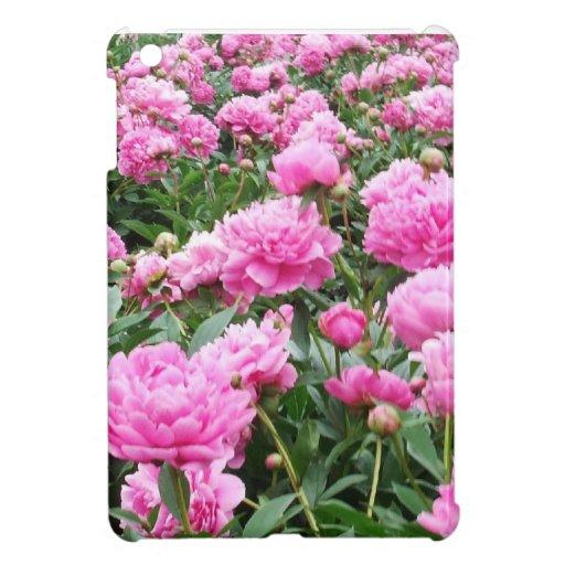 Peonies rosados en la plena floración iPad mini funda