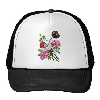 Peonies, Rose and Tulip Bouquet by Prevost Trucker Hat