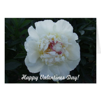 Peonies Valentines Day Card