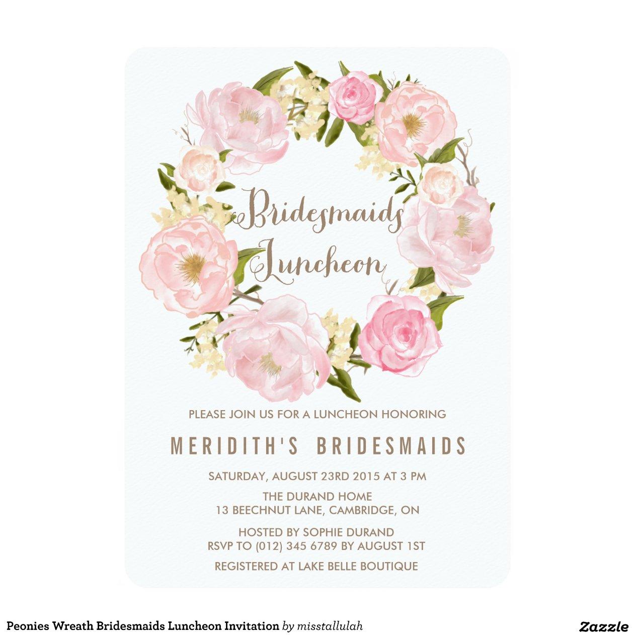 peonies_wreath_bridesmaids_luncheon_invitation ...