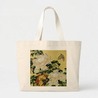 Peonies y mariposa bolsas