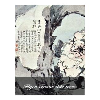 """Peonies y rocas de Kao Feng-Han (la mejor calidad) Folleto 8.5"""" X 11"""""""