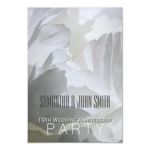 Peony 10th Wedding Anniversary Party Invitation 1