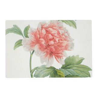 Peony, 1799 (colour stipple print) placemat