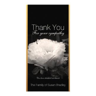 Peony 1 - Sympathy Thank You Photo Cards