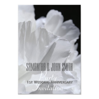 Peony 1st Wedding Anniversary Party Invitation 2