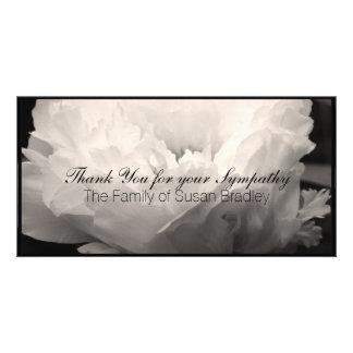 Peony 3 Sympathy Thank You Photo Card