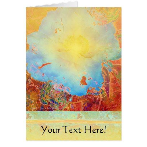 Peony abstracto tarjeta