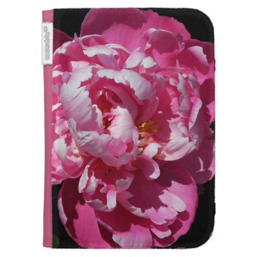 Peony Alone Luscious Pink Bloom Kindle Keyboard Case