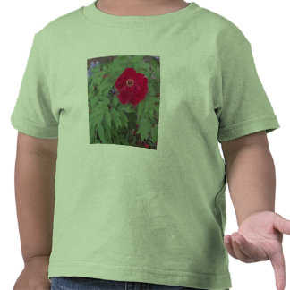 Peony and Blue Flowers T Shirts