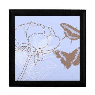 Peony and Butterflies Jewelry Box