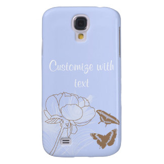 Peony and Butterflies iPhone 3G Case Samsung Galaxy S4 Cover