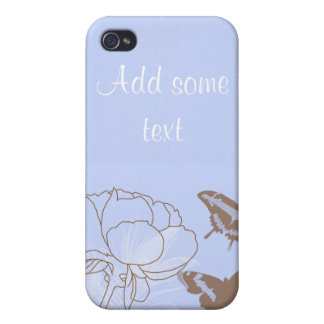 Peony and Butterflies iPhone 4G Case iPhone 4/4S Covers