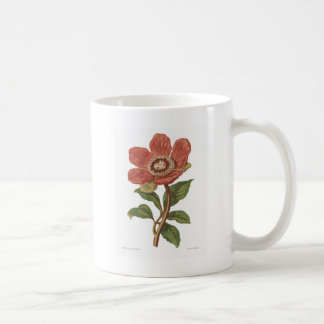 Peony, Antique Victorian Botanical Image Coffee Mug