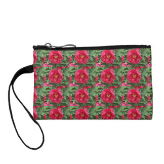 Peony Blooming Heart Flower Coin Wallet