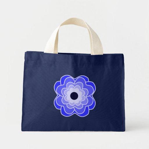 Peony Blue Summer Bag
