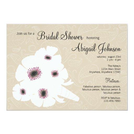 Peony bouquet Bridal Shower Invitation