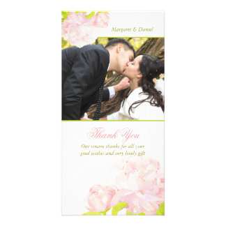 Peony Bouquet Floral Wedding Thank You Card