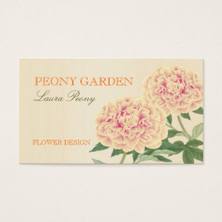 Peony Business Card (Orange)