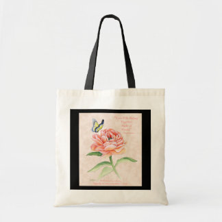 Peony &Butterfly Budget Tote