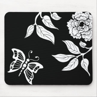 Peony & Butterfly Mouse Pad