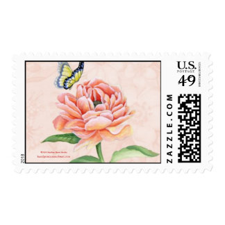 Peony & Butterfly Postage lg