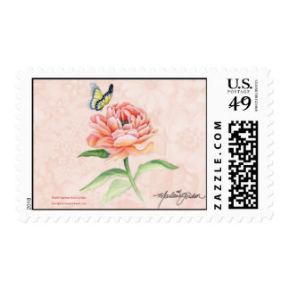 Peony & Butterfly Postage M H