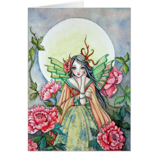 Peony Dawn Fairy - Blank Card