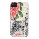 Peony de Bella Italia Case-Mate iPhone 4 Cárcasa