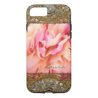 Peony Elegant Fluff Monogram iPhone 8/7 Case