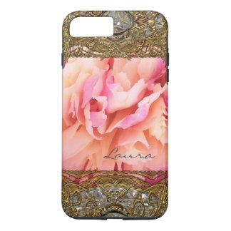 Peony Elegant Fluff Monogram Plus iPhone 8 Plus/7 Plus Case