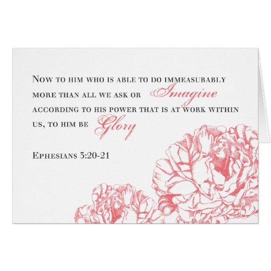 Peony Ephesians 3:20 Card